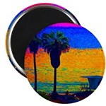 "Beach Campground 2.25"" Magnet (100 pack)"