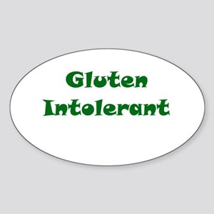 Gluten Intolerant Oval Sticker