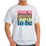 108b. grandpa to be [black on Ash Grey T-Shirt