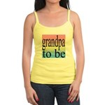 108b. grandpa to be [black on Jr. Spaghetti Tank