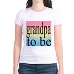 108b. grandpa to be [black on Jr. Ringer T-Shirt