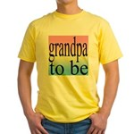 108b. grandpa to be [black on Yellow T-Shirt