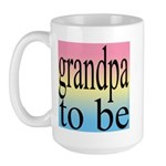 108b. grandpa to be [black on Large Mug