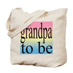 108b. grandpa to be [black on Tote Bag