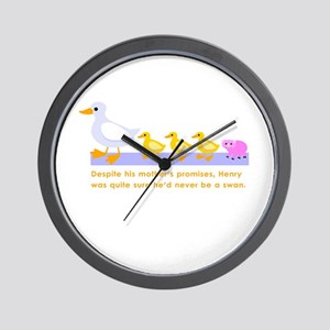 """""""never be a swan..."""" Wall Clock"""