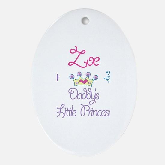 Zoe - Daddy's Princess Oval Ornament