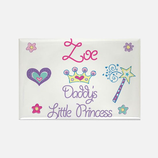Zoe - Daddy's Princess Rectangle Magnet