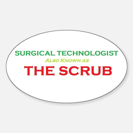 ST The Scrub Oval Decal
