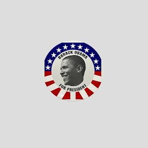 Classic Black & White Obama Mini Button