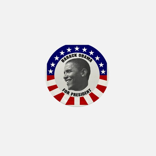 Classic Black & White Obama Mini Button