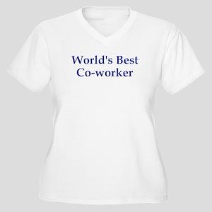 World's Best Co-worker Women's Plus Size V-Neck T-