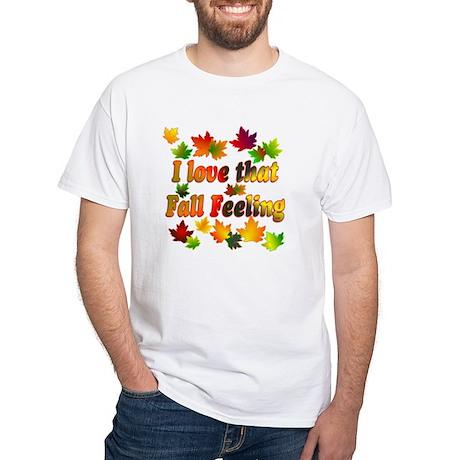 Love Fall White T-Shirt