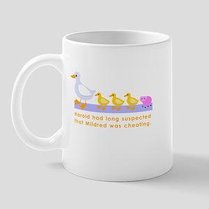 """Mildred was cheating..."" Mug"