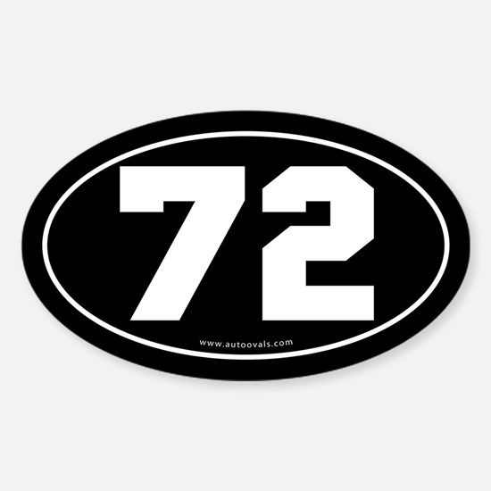 #72 Euro Bumper Oval Sticker -Black