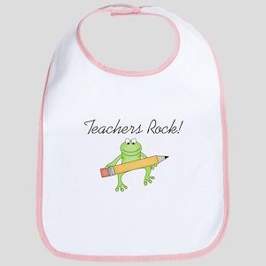 Frog Teachers Rock Bib