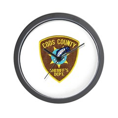 Coos County Sheriff Wall Clock