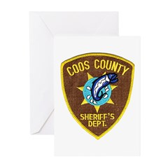 Coos County Sheriff Greeting Cards (Pk of 10)