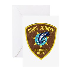 Coos County Sheriff Greeting Card
