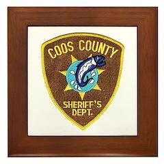 Coos County Sheriff Framed Tile