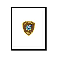 Coos County Sheriff Framed Panel Print