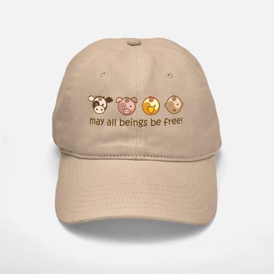 Mat All Beings Be Free Baseball Baseball Cap