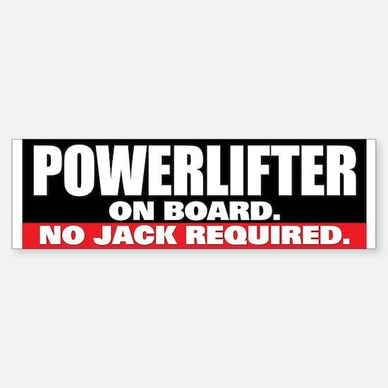 POWERLIFTER ON BOARD Bumper Bumper Stickers