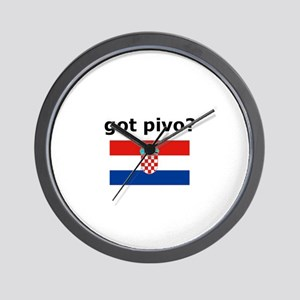 Croatian - Got Pivo? Wall Clock