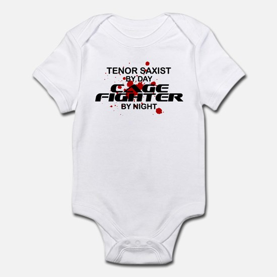Tenor Sax Cage Fighter by Night Infant Bodysuit
