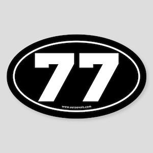 #77 Euro Bumper Oval Sticker -Black