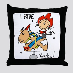 I Ride Throw Pillow