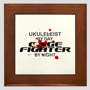 Ukuleleist Cage Fighter by Night Framed Tile