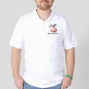 Flying Pigs Golf Shirt