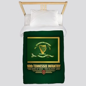 10th Tennessee Infantry Twin Duvet Cover