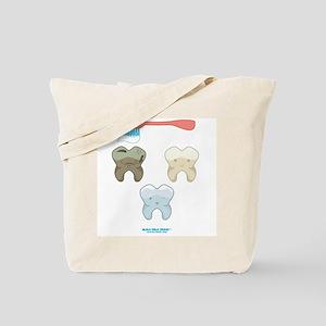 Kawaii Teeth Trio Tote Bag