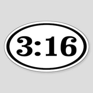 3:16 Oval Sticker