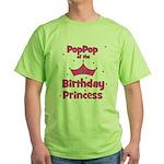 1st Birthday Princess's PopPo Green T-Shirt