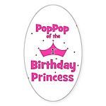 1st Birthday Princess's PopPo Oval Sticker