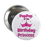"1st Birthday Princess's PopPo 2.25"" Button"