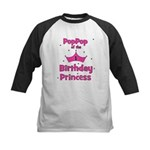 1st Birthday Princess's PopPo Kids Baseball Jersey