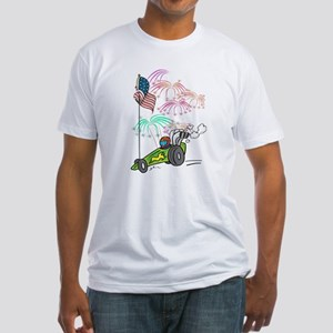 Patriotic Dragster Fitted T-Shirt