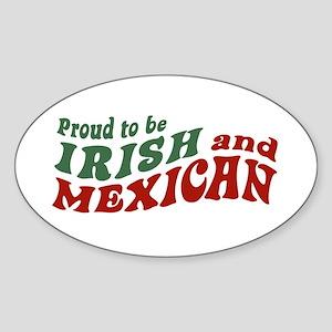 Proud Irish Mexican Oval Sticker