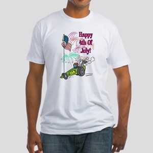 4th Of July Dragster Fitted T-Shirt