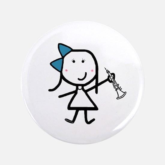 """Girl & Oboe 3.5"""" Button"""