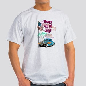 4th Of July Hot Rod Light T-Shirt