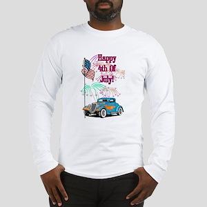 4th Of July Hot Rod Long Sleeve T-Shirt