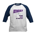 Atheist I Vote Kids Baseball Jersey