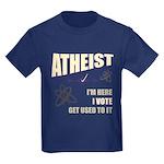Atheist I Vote Kids Dark T-Shirt
