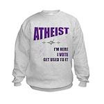 Atheist I Vote Kids Sweatshirt