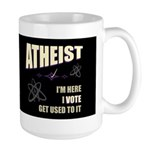 Atheist I Vote Dark Large Mug