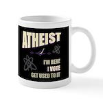 Atheist I Vote Dark Mug